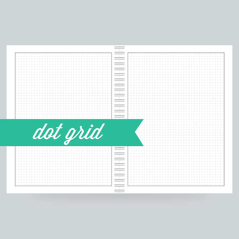 Dot Grid Paper: 130 Pages- Dot Grid on the front & back - 100% Post Consumer Recycled