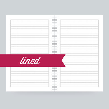 Lined Paper: 130 Pages- College Ruled on the front & back - 100% Post Consumer Recycled