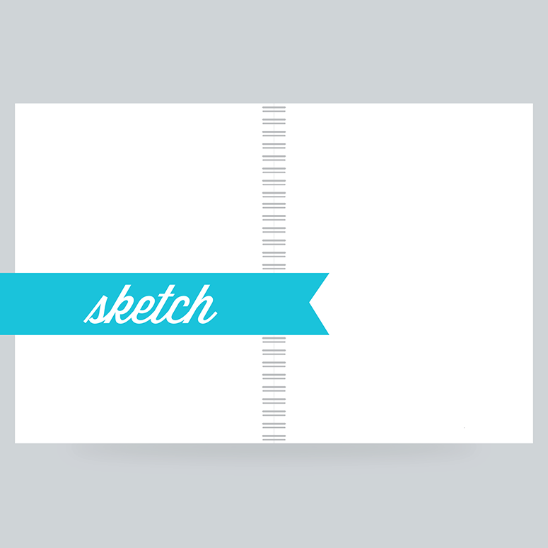 Sketch Paper: 100 Pages- Blank - 80lb Felt Finish - 30% Recycled - Acid Free & Archival