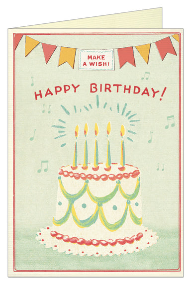 Make A Wish vintage birthday card design