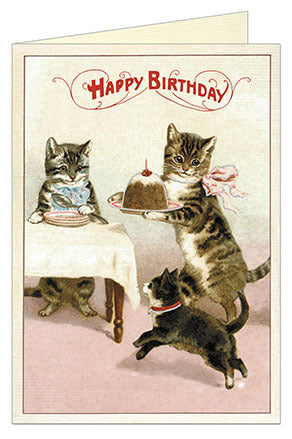 Cavallini & Co. Birthday Cats Single Card