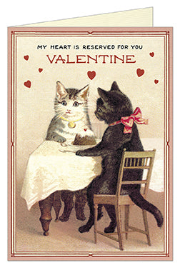 Cavallini & Co. Valentine Cats Blank Single Greeting Card
