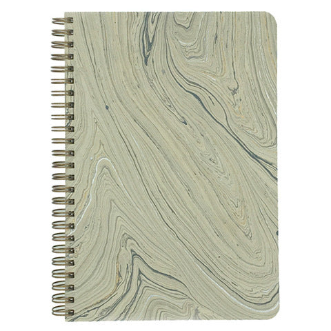 Grey Marbled Make My Notebook spiral bound notebook.