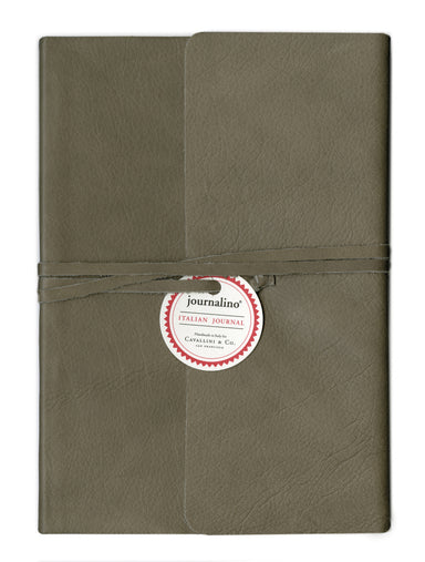 Cavallini & Co. Journalino Slim Leather Journal- Grey Cover