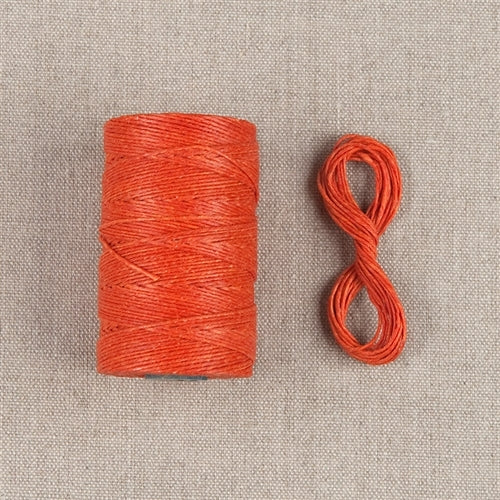 Waxed Linen Thread- Orange Crush