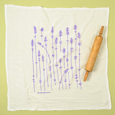 Kei & Molly Flour Sack Cotton Tea Towel- Lavender Sprigs
