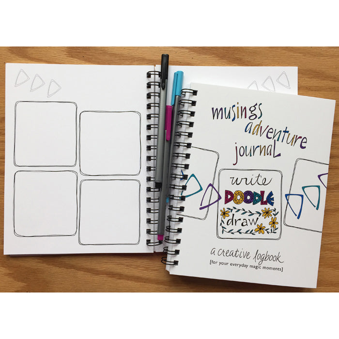 Musings Adventure Journal Blank Page Layout