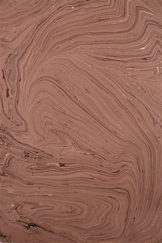 Handmade Marbled Papers- Dusty Pink with Gold and Black