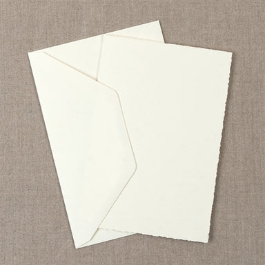 "Medioevalis Stationery 10-Pack Folded Cards, Cream, ""5X7"" inches features 10 folded cards and 10 envelopes"