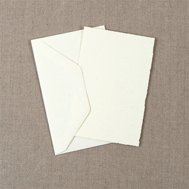 Medioevalis Stationery 10-Pack Flat Cards, Cream, 3x5 inches features 10 cream cards and 10 envelopes.