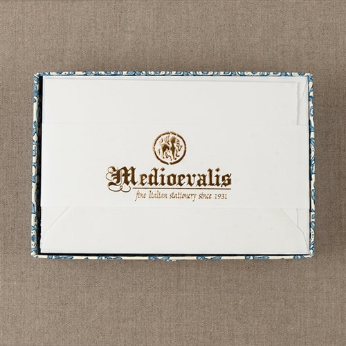 Medioevalis Stationery 10-Pack Folded Cards and Envelopes, White, 5.55 inches by 6.69 inches