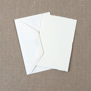 Medioevalis Stationery 10-Pack Flat Cards, White, 3x5 inches features 10 cards and 10 envelopes.