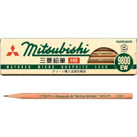 The Mitsubishi 9800EW HB pencil is a smooth, clean-writing pencil that is great for everyday use.