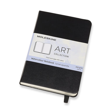 Pocket size Watercolor Notebook measures 3 1/2 inches by 5 1/2 inches (9 by 14 cm)- perfect for a traveler!