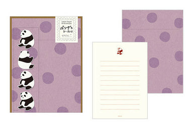 Midori Panda Letter Set with Stickers- set of 4