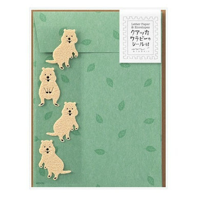 Midori Quokka Letter Set with Stickers- set of 4