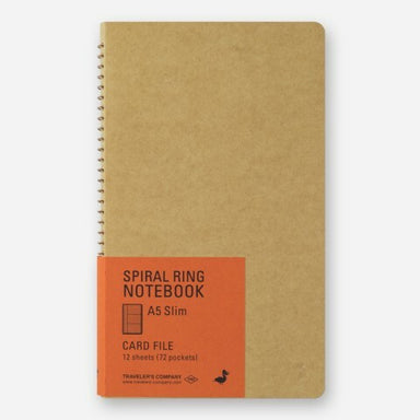 Traveler's Company Spiral Ring Card File Notebook- Vertical A5 Slim