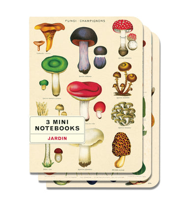 This mini notebook set of three high quality notebooks features bright and colorful reproductions of vintage botanical images to motivate any gardener to get outdoors!