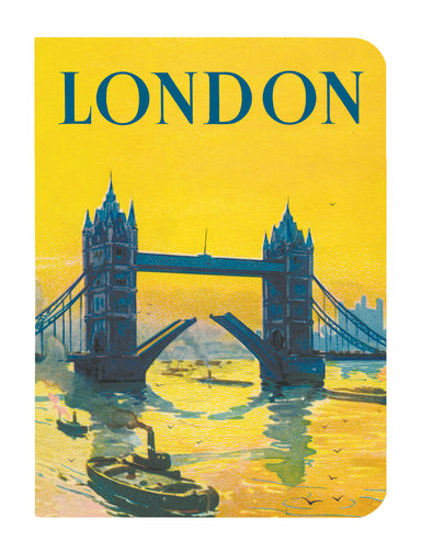 Each notebook features vintage London imagery.
