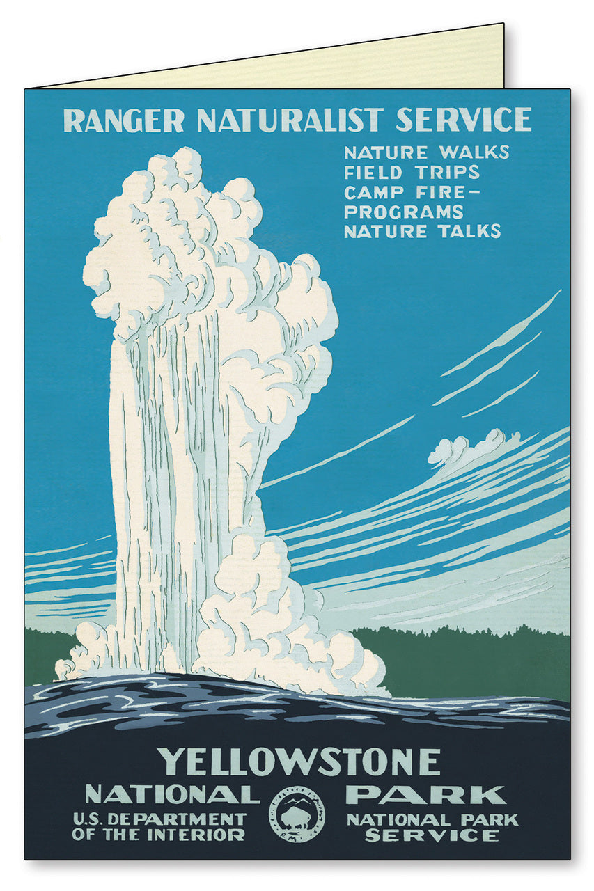 Enjoy Yellowstone's Old Faithful.