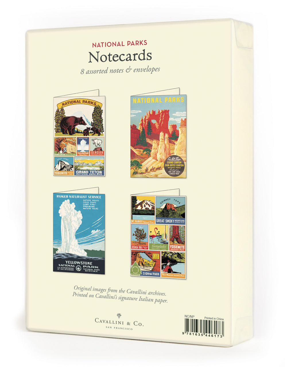 Cavallini & Co. Boxed Notecards includes 8 cards, 2 each of 4 designs.