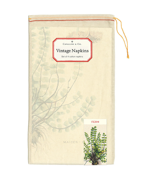 Napkins come packaged in a hand- sewn muslin bag ready for gifting.
