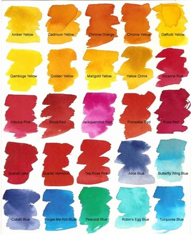Peerless watercolor papers color chart.