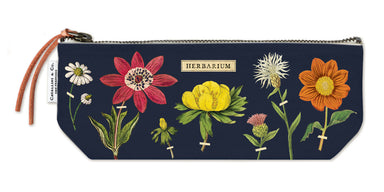Cavallini's Herbarium Mini Pouch features vintage botanical images from the Cavallini archives.