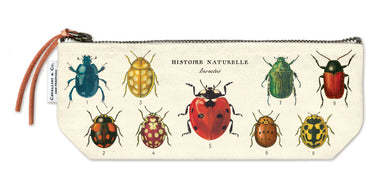 Cavallini's Insects Mini Pouch features vintage natural history images of insects from the Cavallini archives.