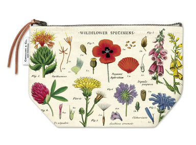 Cavallini & Co. Wildflowers Vintage Pouches feature vintage images from the Cavallini archives. 100% natural cotton bags are lined and have gusseted bottoms to stand on their own.