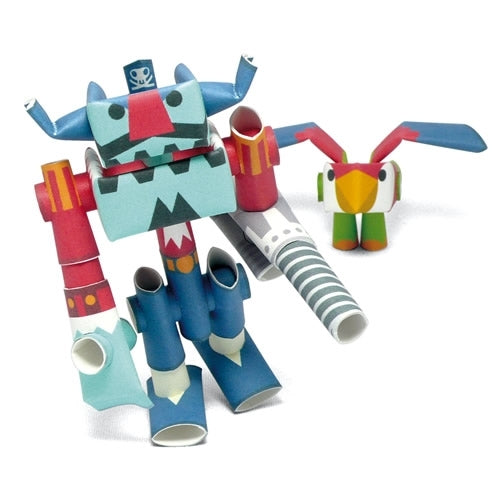 Captin Drill & Repeat PIPEROID are Japanese paper robots that have a story line.