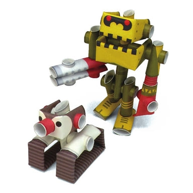 Dr. Penk & Goriborg PIPEROID are Japanese paper robots that are both a craft and toy.