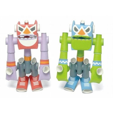 Super Red and El Blue PIPEROID are part of the PIPEROID paper robot line. These Japanese toys require assembly, but that is part of the fun.