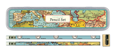 Cavallini & Co. Vintage Maps pencil set- NEW for 2016. This set contain 10 HB pencils for everyday use.