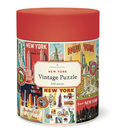 Cavallini & Co. New York City Collage 500 Piece Puzzle