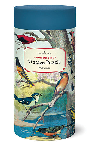 NEW for 2020- Audubon Birds 1000 Piece Puzzle. Cavallini's latest puzzle design is for bird lovers!