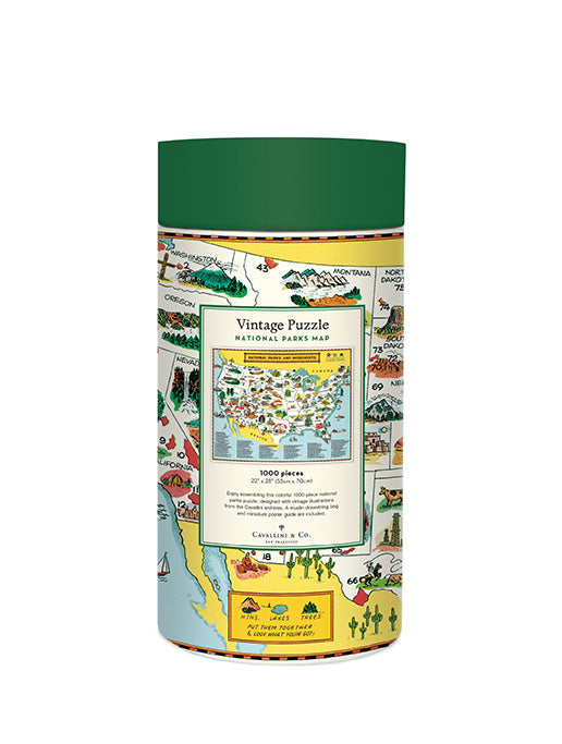 All puzzles are packaged in a 10 inch long cardboard tube, with puzzle pieces safely stored in a muslin bag inside.
