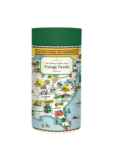NEW for 2020- National Parks Map puzzle by Cavallini & Co. Taking a summer road trip and visiting our National Parks?