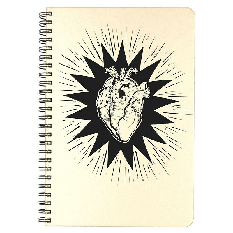 Champagne Heart Beat small notebook.