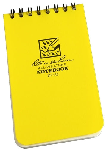 Rite in the Rain Spiral Notebook- Yellow- 3x5