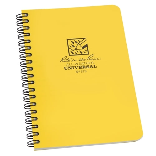 "Rite in the Rain Side Spiral Notebook- Yellow- 4 5/8"" x 7"""