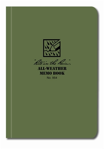 Rite in the Rain Field-Flex Pocket Memo Book- Green- 3 1/2x5