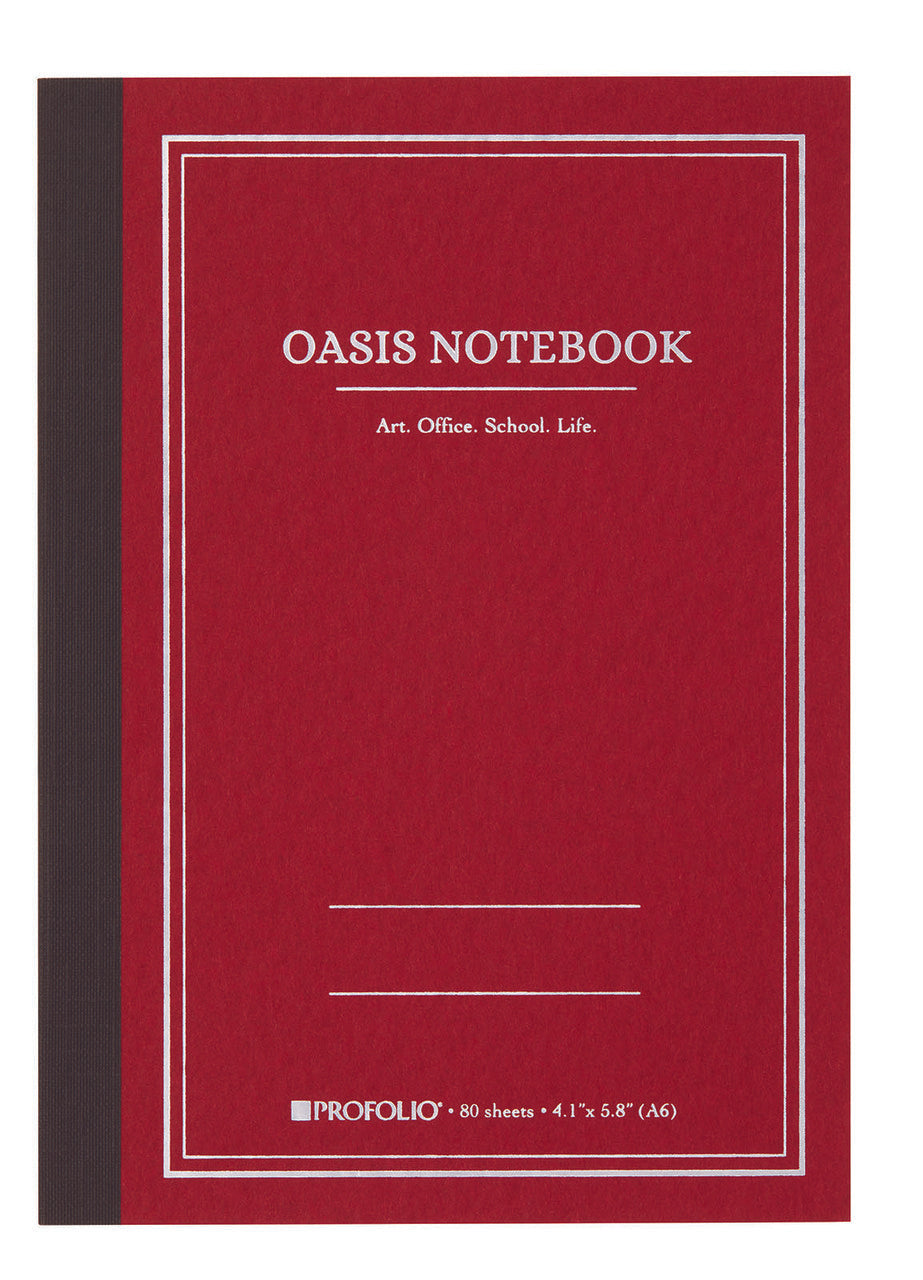 ProFolio Oasis Notebook in brick red.