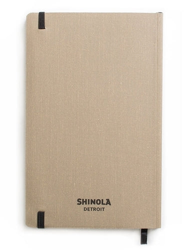 Shinola Soft Linen Grid Journal, Praline, 5 x 8 inches
