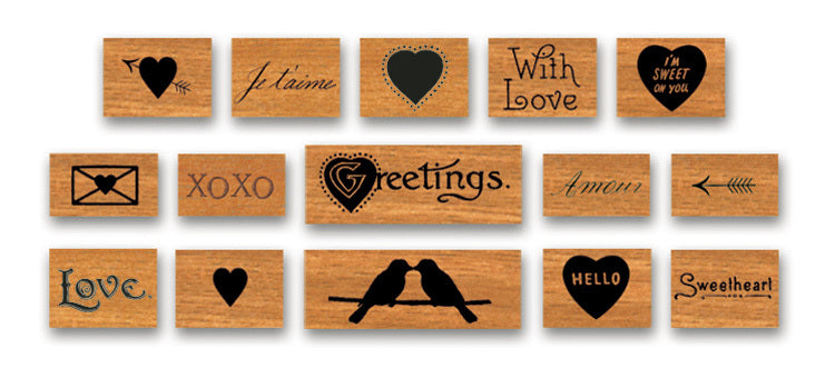 "Each of the ""Love"" Stamps is sure to bring a nice touch to your next project."