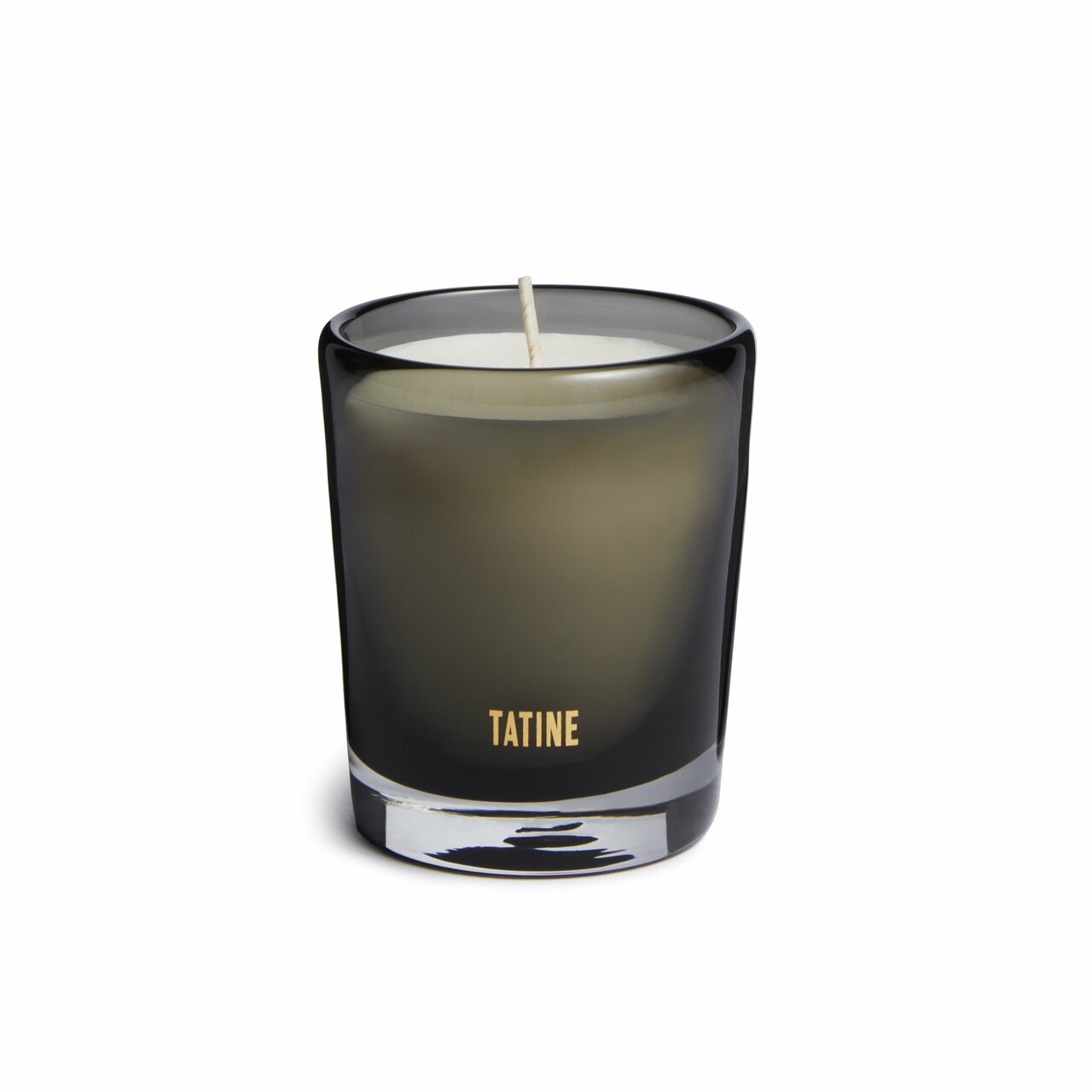 Each 8 oz. soy wax candle comes in its own unique, artisan mouth-blown smoke grey glass that can be repurposed.