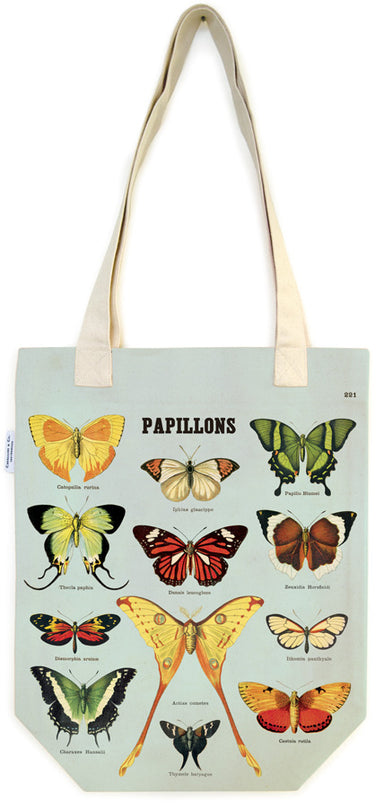 Cavallini & Co. Butterfies Cotton Tote Bag