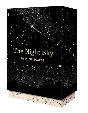 The Night Sky Postcard Box Set features a collection of 50 space-themed postcards.