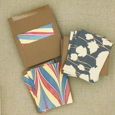 Two Hands Made Recycled Cotton Stationery- Package of 8- Grey