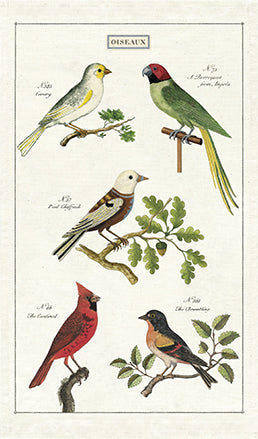 Cavallini & Co. Birds Cotton Tea Towel
